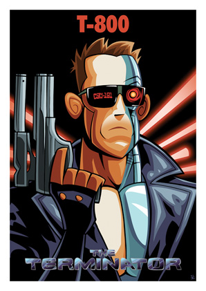 Cartoon Movie Posters - Terminator