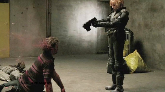 Dredd - Olivia Thirlby Delivering Justice