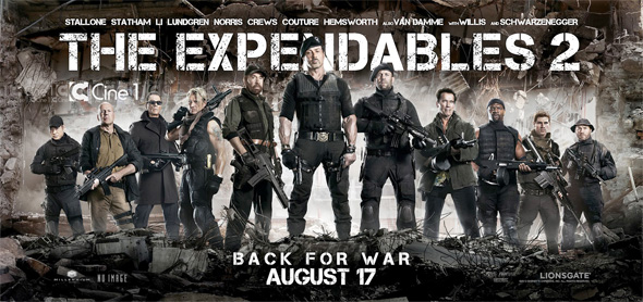 The Expendables 2 - Banner