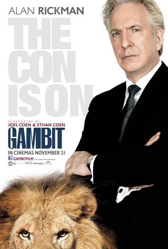 Gambit - International Poster - Alan Rickman