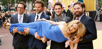 Heather Graham with The Hangover Cast