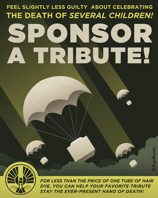 The Hunger Games Propaganda Poster - Sponsor a Tribute