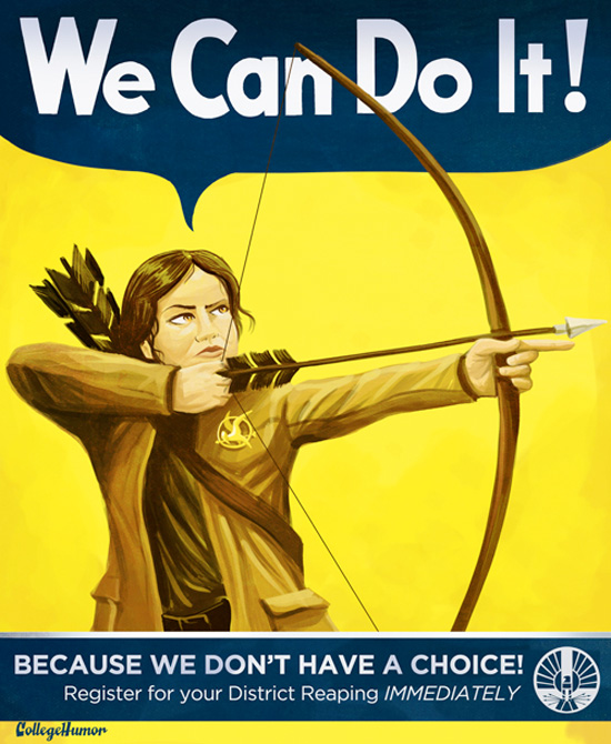 The Hunger Games Propaganda Poster - We Can Do It
