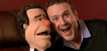 Jason Segel and Muppet Jason Segel
