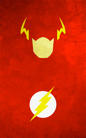 Minimalist Superhero Poster - The Flash