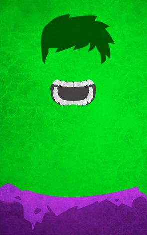 Minimalist Superhero Poster - Hulk