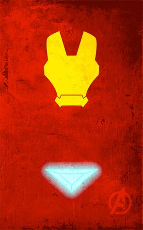 Minimalist Superhero Poster - Iron Man