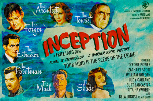 Modern Movies, Classic Posters - Inception