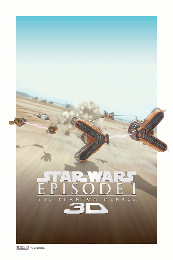 Star Wars Episode I: The Phantom Menace in 3D - Podracing Poster