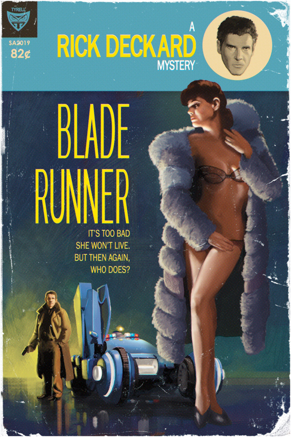 Pulp Fiction Sci-Fi Posters - Blade Runner