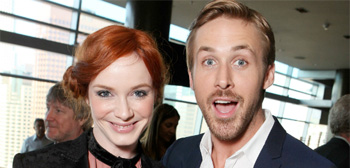 Christina Hendricks and Ryan Gosling