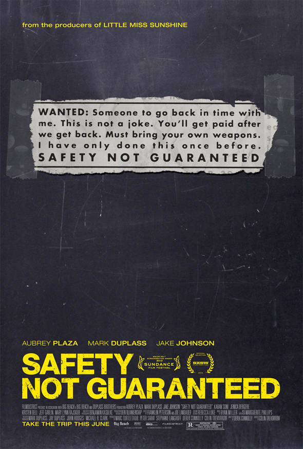 Safety Not Guaranteed - Teaser Poster