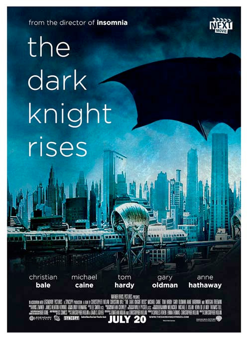 Summer Indie Poster - The Dark Knight Rises