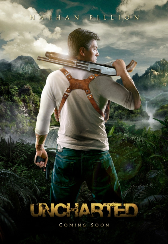 Video Game Movie Posters - Uncharted