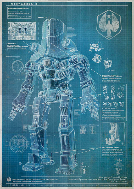 Pacific Rim Blueprint - Russian Jaeger