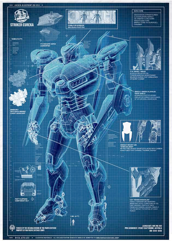 Pacific Rim Blueprint - Striker Eureka