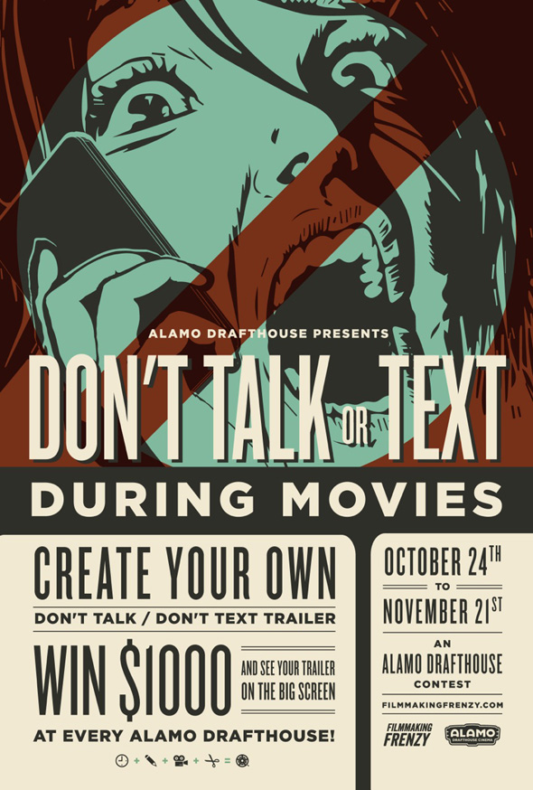 Filmmaking Frenzy - No Talking or Texting Contest Poster