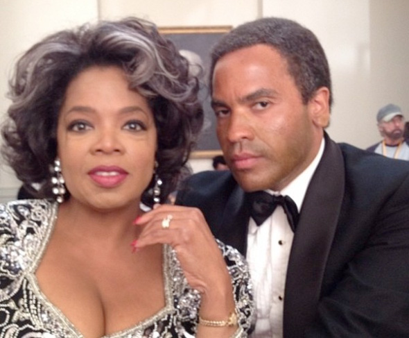 Oprah Winfrey and Lenny Kravitz in The Butler