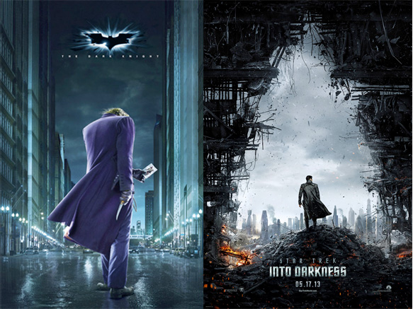 Star Trek Into Darkness and The Dark Knight Posters
