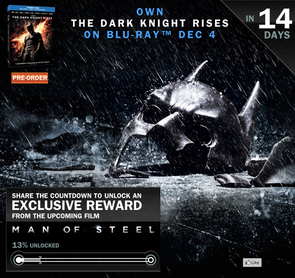 Dark Knight Rises - Man of Steel Countdown