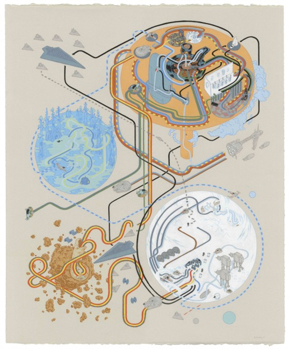 Andrew DeGraff Posters - Empire Strikes Back