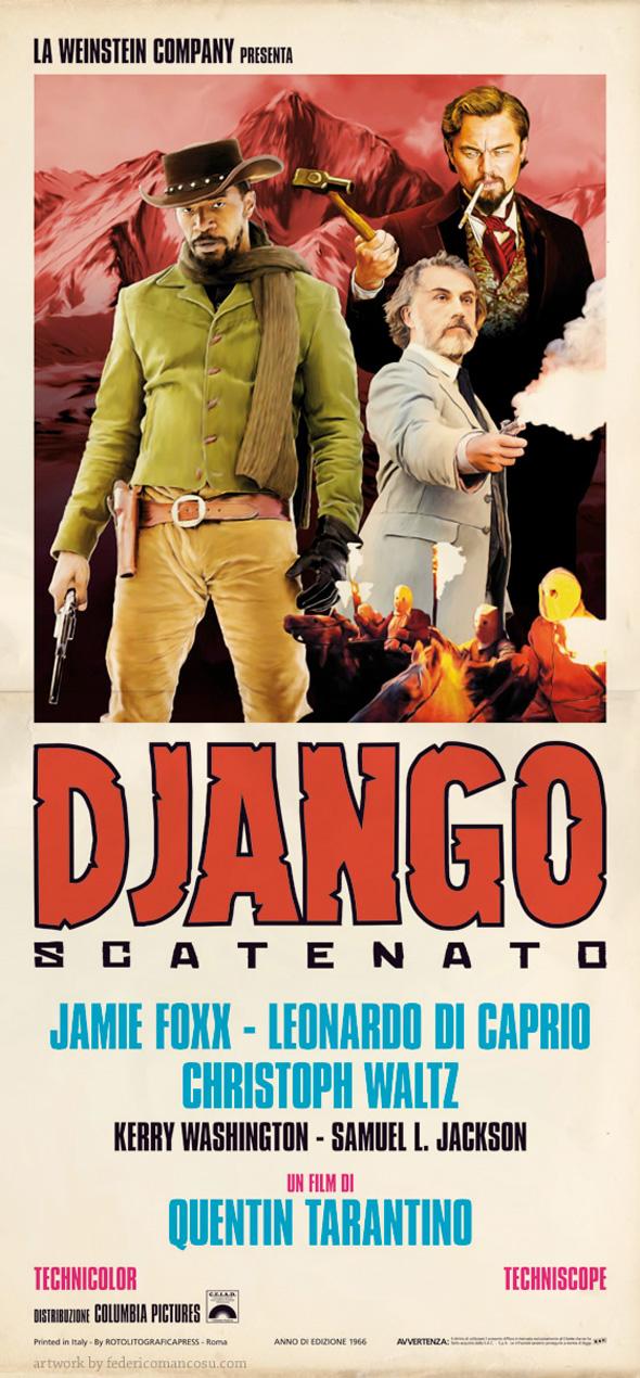 Django Unchained - Federico Mancosu Poster