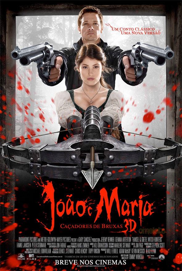 Hansel &#038; Gretel: Witch Hunters - Brazilian Poster