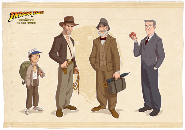 Indiana Jones: Animated Adventures - Key Art