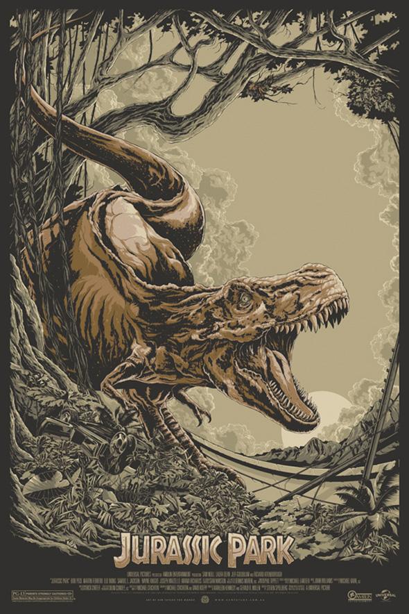 Jurassic Park - Ken Taylor's Mondo Poster