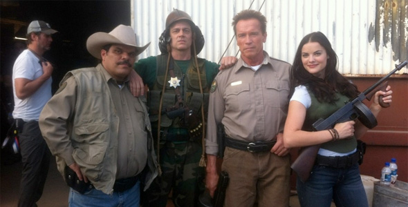 The Last Stand - Cast on Set