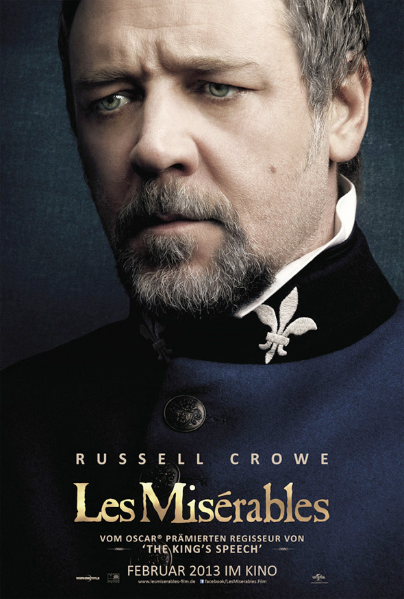 Les Miserables - Russell Crowe Poster