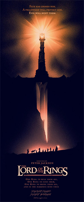 Lord of the Rings - Olly Moss Poster - Orange