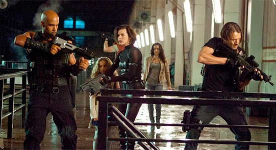 Resident Evil: Retribution - Milla Jovovich and Team