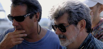 Rick McCallum and George Lucas