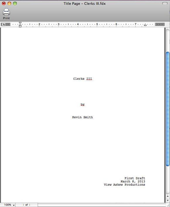 Clerks III Screenplay