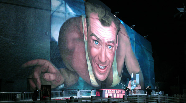 A Good Day to Die Hard Mural