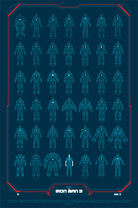 Iron Man 3 Mondo Poster - Phantom City Creative
