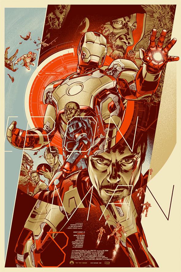Iron Man 3 Mondo Poster - Martin Ansin