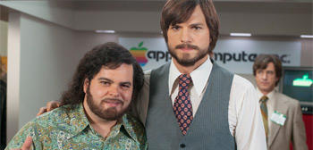 Josh Gad & Ashton Kutcher in Jobs
