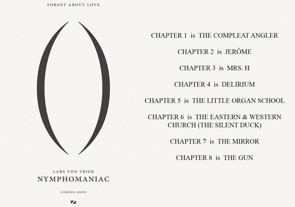 Lars von Trier Nymphomaniac Chapters