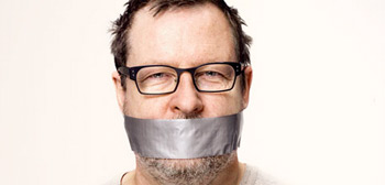 Lars von Trier Mouth Taped