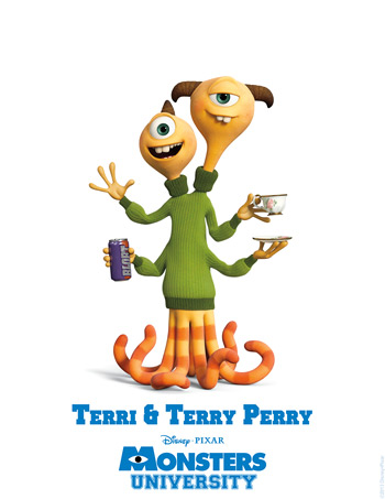 Monsters University - Terri & Terry Perry
