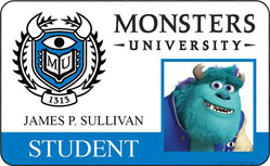 Monsters University ID - James. P Sullivan