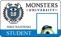Monsters University ID - Mike Wazowski