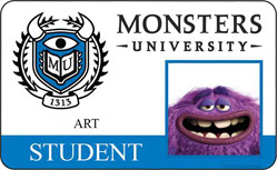 Monsters University ID - Art
