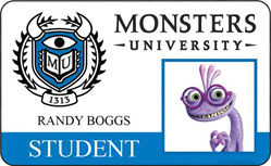Monsters University ID - Randy Boggs