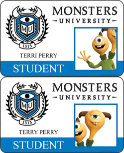 Monsters University ID - Terri & Terry Perry