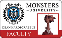 Monsters University ID - Dean Hardscrabble