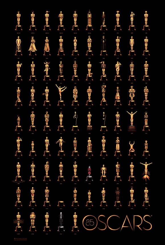 85th Academy Awards Poster Olly Moss