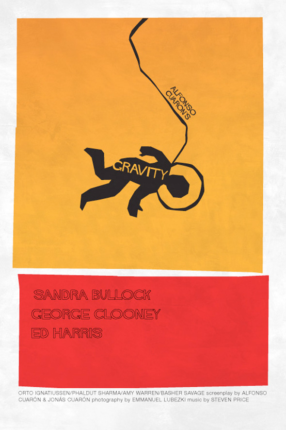 Saul Bass Best Picture 2014 Nominee Posters
